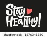 stay healthy. coronavirus covid ...   Shutterstock .eps vector #1676348380
