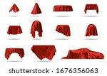 luxury red silk velvet  cloth... | Shutterstock . vector #1676356063