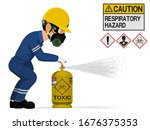 an industrial worker with... | Shutterstock .eps vector #1676375353