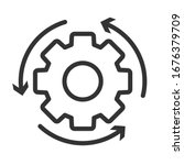 workflow line style icon... | Shutterstock .eps vector #1676379709
