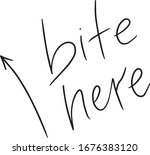 the inscription bite here with ...   Shutterstock .eps vector #1676383120