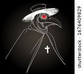 vector gothic illustration of... | Shutterstock .eps vector #1676409829