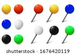 map tacks  round pins and... | Shutterstock .eps vector #1676420119