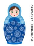 russian tradition matreshka... | Shutterstock .eps vector #167643560