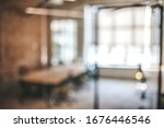 Blurred Office Interior Space...