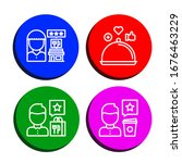 verification simple icons set.... | Shutterstock .eps vector #1676463229