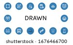 set of drawn icons. such as... | Shutterstock .eps vector #1676466700