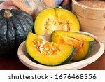 The Japanese Pumpkin And Slice...