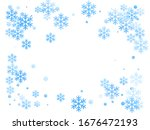 winter snowflakes and circles... | Shutterstock .eps vector #1676472193