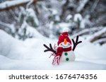 Merry Snowman In The Winter...
