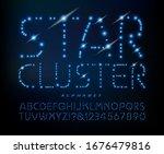 star cluster alphabet  a font... | Shutterstock .eps vector #1676479816