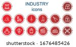 editable 14 industry icons for... | Shutterstock .eps vector #1676485426