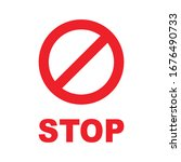 no stop icon. vector... | Shutterstock .eps vector #1676490733