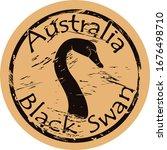 Black Swan Bird Silhouette Ico...
