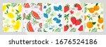modern template peach apricot... | Shutterstock .eps vector #1676524186