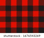 red and black lumberjack plaid... | Shutterstock .eps vector #1676543269