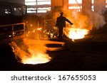 Working In A Foundry. Worker...