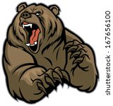 grizzly bear mascot | Shutterstock .eps vector #167656100