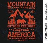 mountain adventure vintage... | Shutterstock .eps vector #1676569666