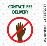 contact less delivery concept.... | Shutterstock .eps vector #1676572789