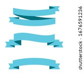 light blue ribbon banners set.... | Shutterstock .eps vector #1676591236
