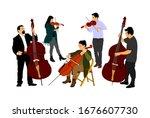 Music Band  Woman Cellist...