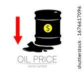 vector sign of oil. statistics... | Shutterstock .eps vector #1676617096