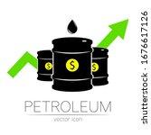 vector sign of oil. statistics... | Shutterstock .eps vector #1676617126