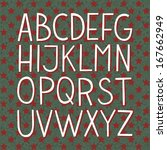 merry christmas hand drawn... | Shutterstock .eps vector #167662949