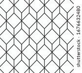 Abstract Black Geometric...