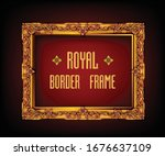 decorative vintage frame and... | Shutterstock .eps vector #1676637109