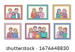 pictures of various family... | Shutterstock .eps vector #1676648830