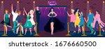 night club entrance  beautiful...   Shutterstock .eps vector #1676660500