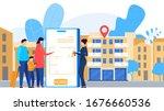 online apartment rental service ...   Shutterstock .eps vector #1676660536