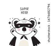 cute super hero character... | Shutterstock .eps vector #1676682796