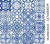 decorative color ceramic... | Shutterstock .eps vector #1676685079