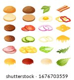 isometric burger sandwich... | Shutterstock .eps vector #1676703559