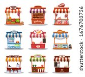 stall street market vector... | Shutterstock .eps vector #1676703736