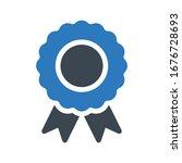 badge vector glyph color icon  | Shutterstock .eps vector #1676728693