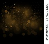 Gold Abstract Bokeh Background...