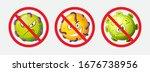 3d vector stop corona virus.... | Shutterstock .eps vector #1676738956
