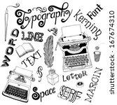 typography vector doodles | Shutterstock .eps vector #167674310