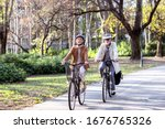 Senior Couple With Bycicles And ...