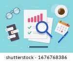 research of audit report review ...   Shutterstock .eps vector #1676768386