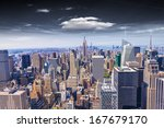 beautiful view of  new york... | Shutterstock . vector #167679170
