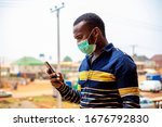 Corona Virus. Africa Man In...