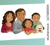 happy family | Shutterstock .eps vector #167680004