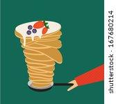pancakes | Shutterstock .eps vector #167680214