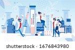 happy doctor scientist... | Shutterstock .eps vector #1676843980