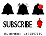 subscribe  bell icon and a hand ...